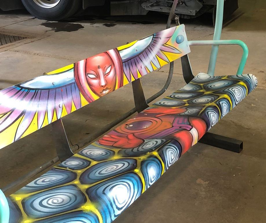Zephyr chairlift decorative bench